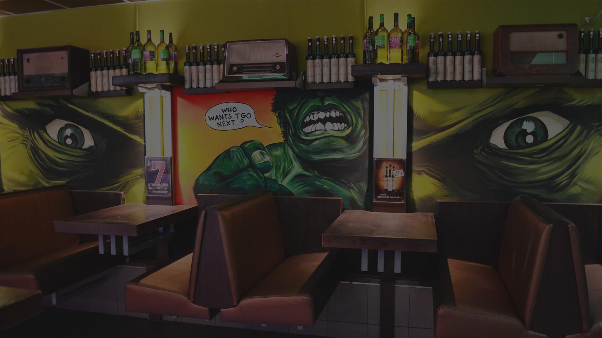 beltéri falfestés kocsma szórakozóhely dekoráció eredeti stílus szeged budapest (2)